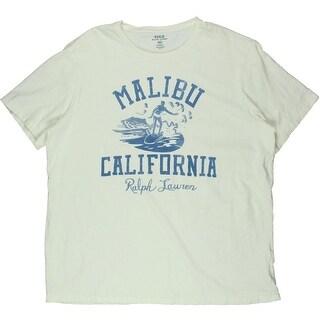 Polo Ralph Lauren Mens Malibu Short Sleeves Crew Neck Graphic Tee