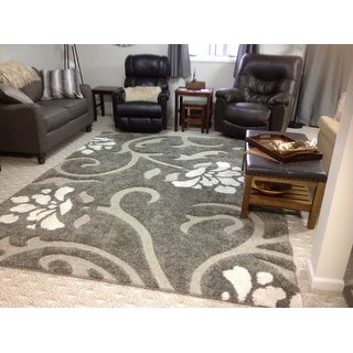 Shop Safavieh Florida Shag Smoke Beige Shag Area Rug 8