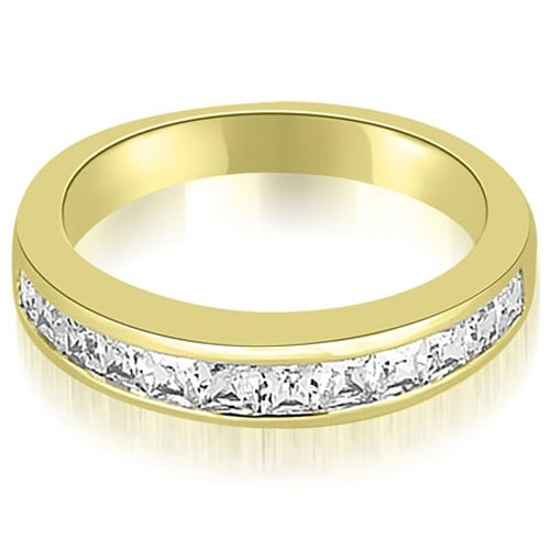 0.85 cttw. 14K Yellow Gold Channel Set Princess Cut Diamond Wedding Band