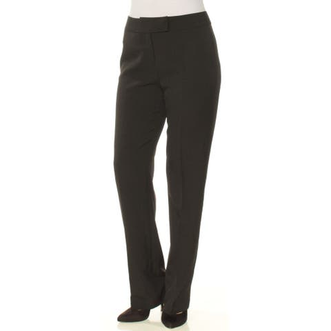 TAHARI Womens Black Straight leg Wear to Work Pants Size 6