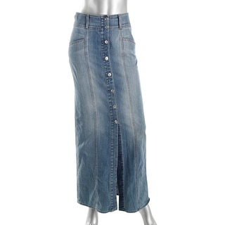 7 For All Mankind Womens Cotton Denim Denim Skirt - 25