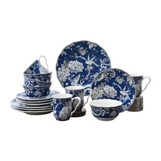 Adelaide Dark Blue 16 Piece Dinnerware Set