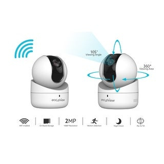 LaView Wifi 1080P 360° View Pan & Tilt Security Camera with Micro SD slot, Two-Way Audio, Night Vision, Remote View