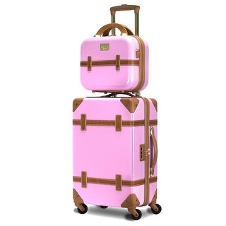 Gatsby 2 Piece Hardside Carry-On Luggage Set Pink