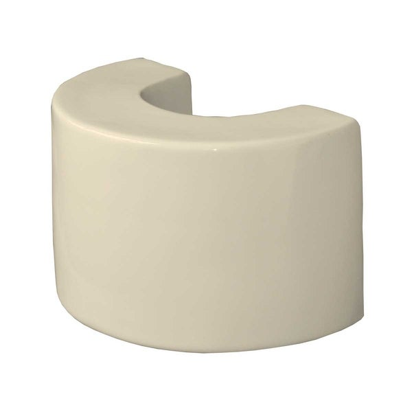 Bathroom Pedestal Sink Extender Booster 8 H Bone Ceramic