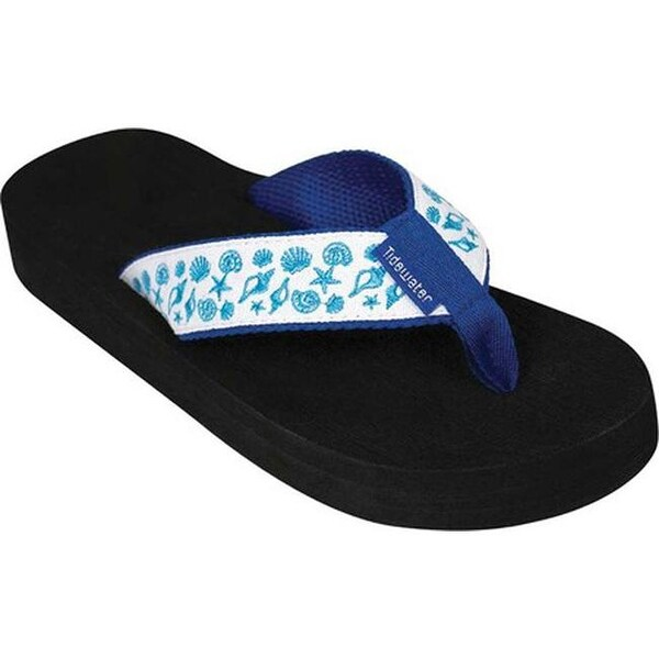8d15822e5c7c Shop Tidewater Sandals Women s Shell Print Flip Flop White Blue - On Sale -  Free Shipping On Orders Over  45 - Overstock - 20545741