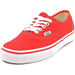 Vans Authentic Men Round Toe Canvas Red Sneakers