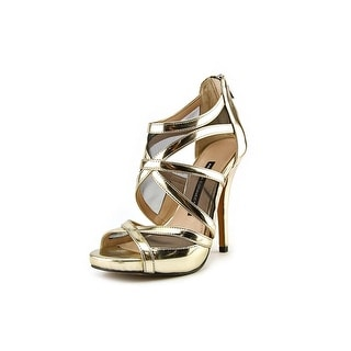French Connection Delano Women Open Toe Synthetic Gold Sandals