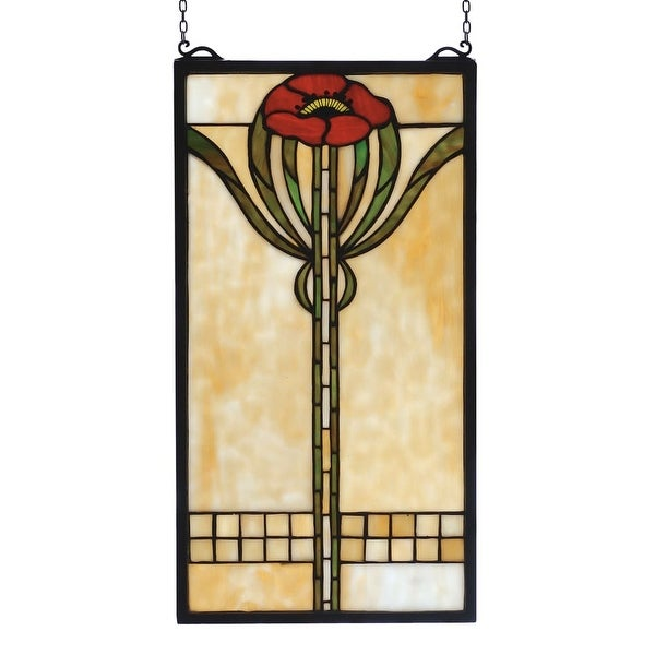 Meyda Tiffany 67789 Stained Glass Tiffany Window from the Arts & Crafts Collection - n/a