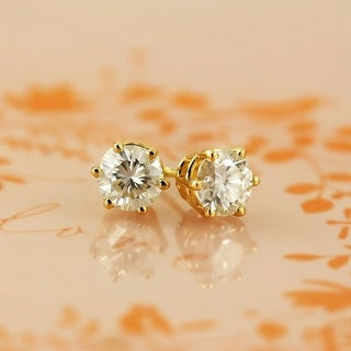 Link to Auriya 1ctw Round Moissanite Stud Earrings 14k Gold - 5 mm Similar Items in Earrings
