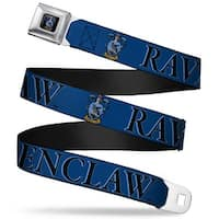Ravenclaw Crest Full Color Harry Potter Ravenclaw & Crest Blue Black Seatbelt Belt