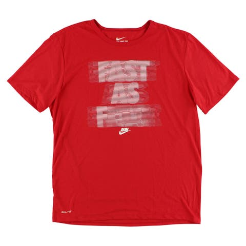e8c2732bbad8 Nike Mens Run Fast As T Shirt Red - red white