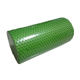 Yoga Gym Pilates EVA Soft Foam Roller Floor Exercise Fitness Trigger 30x14.5cm Green