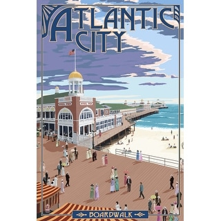 Atlantic City, New Jersey - Boardwalk - Lantern Press Artwork (Playing Card Deck - 52 Card Poker Size with Jokers)