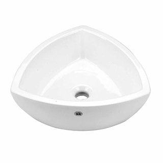 Bathroom Vessel Triangle Sink White China Trinity | Renovator's Supply