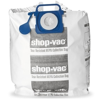 Shop-Vac 9021733 Tear Resistant HEPA Collection Bags, 5-10 Gallon