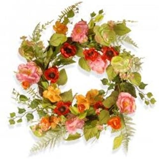 National Tree RAS-150326-1 22 in. Spring Flower Wreath