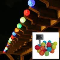 Smart Solar 3711MR20 LED Chinese Lantern String Lights, Set of 20