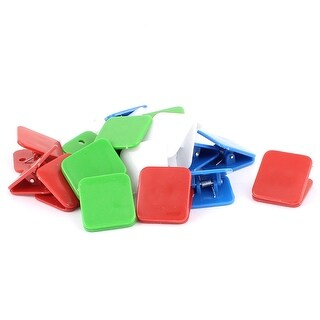 Unique Bargains School Plastic Spring Loaded Paper File Memo Binder Clip Assorted Color 20pcs