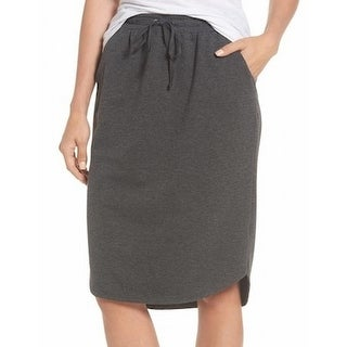 Bobeau NEW Gray Womens Size Small PS Petite Fleece Stretch Knit Skirt