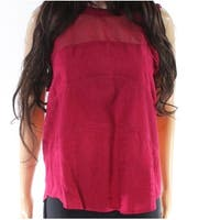 Eyeshadow Beet Pink Womens Size Medium M Ruffle Trim Tank Top