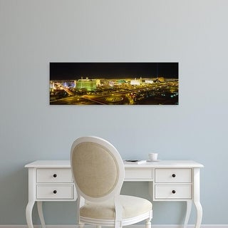 Easy Art Prints Panoramic Images's 'High angle view of buildings lit up at night, Las Vegas, Nevada, USA' Canvas Art