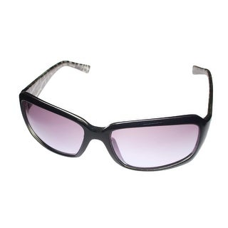 Ellen Tracy Sunglass ET 500 1 Black Rectangle Plastic, Smoke Gradient Lens - M