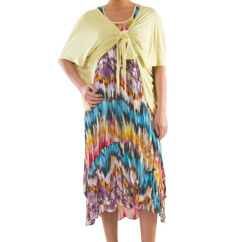 Summery Jersey Dress - Sizes 14, 16, 18 & 20 - Plus Size Clothing - La Mouette Collection
