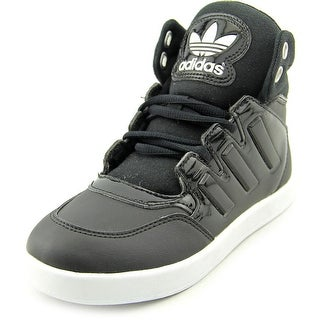Adidas Dropstep EL Youth  Round Toe Leather Black Sneakers
