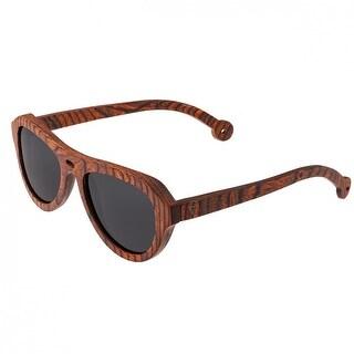 Spectrum Stroud Unisex Wood Sunglasses - 100% UVA/UVB Prorection - Polarized Lens - Multi