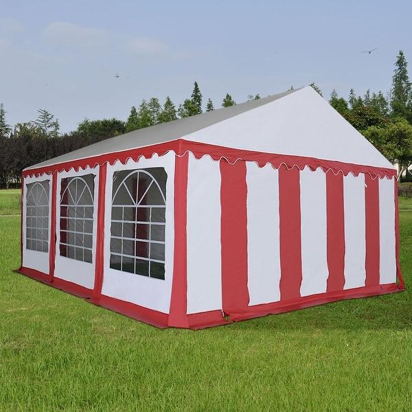 Shop Costway 20 X20 Pvc Tent Shelter Heavy Duty Outdoor