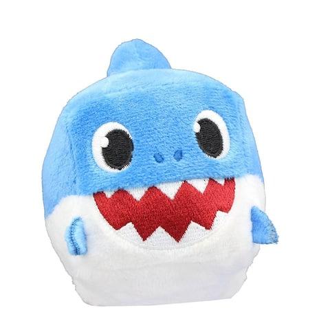 Pinkfong Shark Family 3 Inch Sound Cube Plush - Daddy Shark Blue - Multi