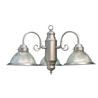 Woodbridge Lighting 10000-STN 3 Light Down Light Single Tier Chandelier from the Builder's Choice Collection