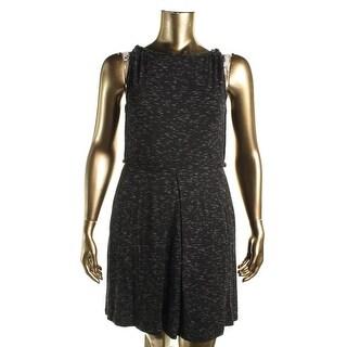 Studio M Womens Helene Sleeveless Space Dye Wear to Work Dress