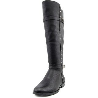 INC International Concepts Ameliee Wide Calf Women Black Boots
