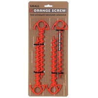 "Orange Screw 2525-H-102 Small Ground Anchor, Orange, 9-1/2"" H"