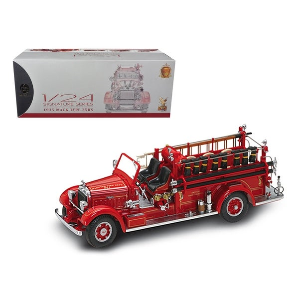 Shop 1935 Mack Type 75BX Fire Truck Red With Accessories 1