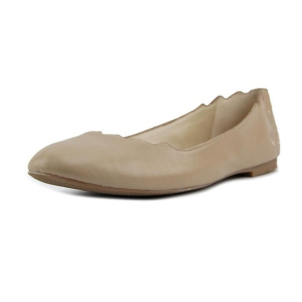 2c306fc1e Shop Sam Edelman Finnegan Women Round Toe Leather Nude Flats - Free ...