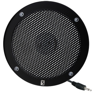 "Poly-Planar 5"" VHF Extension Speaker - Flush Mount - (Single) Black"