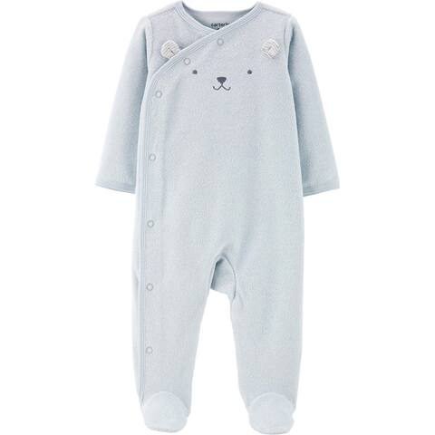 Carter's Baby Boys' Terry Snap-Up Sleep & Play, Blue Bear, 9 Months