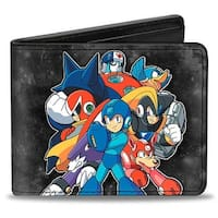 Megaman Group2 + Megaman Running Galaxy Bi Fold Wallet - One Size Fits most