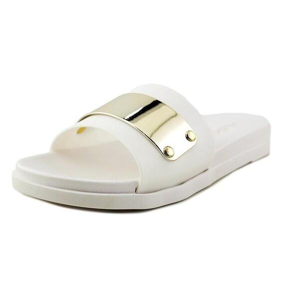 Aldo Frloidel-70 Women Open Toe Synthetic White Slides Sandal