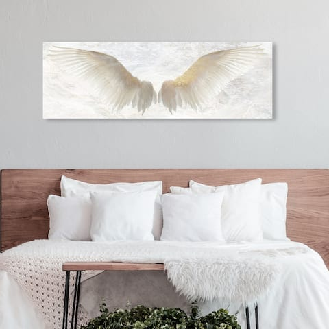 Oliver Gal 'Winged Soul' Fashion and Glam Wall Art Canvas Print Wings - Gold, White