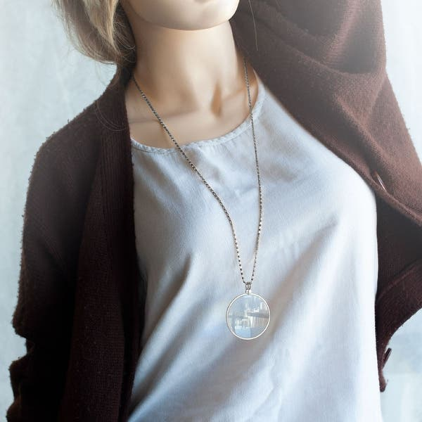 Magnifying Glass Necklace Monocle Necklace Long Necklace