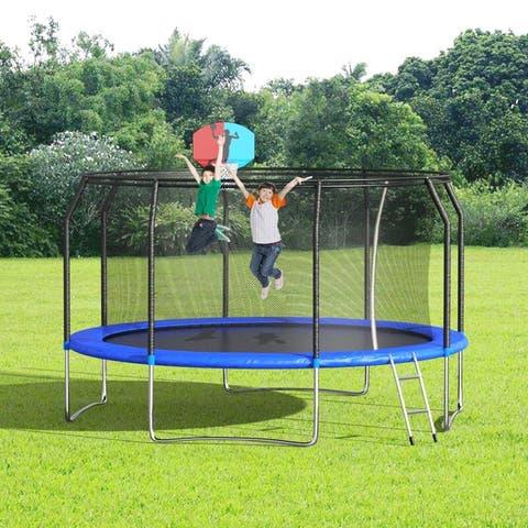 Nice Furniture Round Backyard Trampoline with Safety Enclosure Net