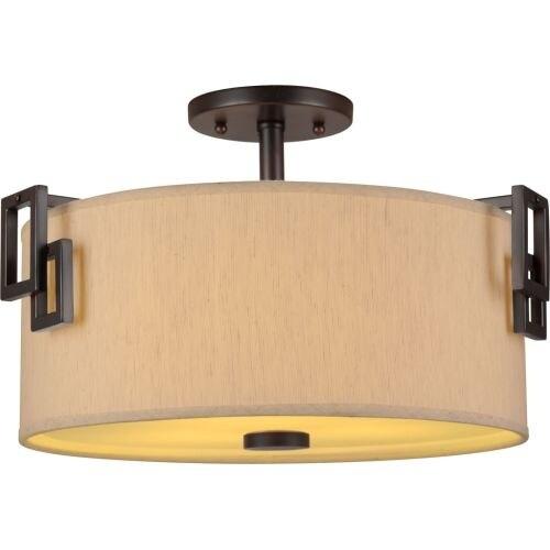 Forte Lighting 2551-03 3 Light Semi-Flush Ceiling Fixture