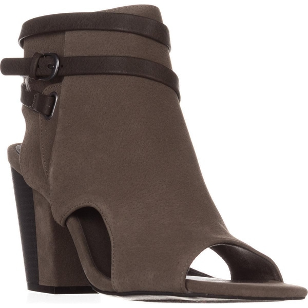 White Mountain Shira Block-Heel Dress Sandals, Grey