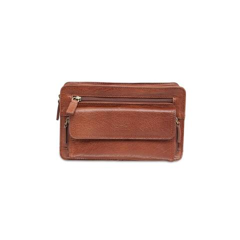 Mancini Leather Arizona Bag with Organizer - one size