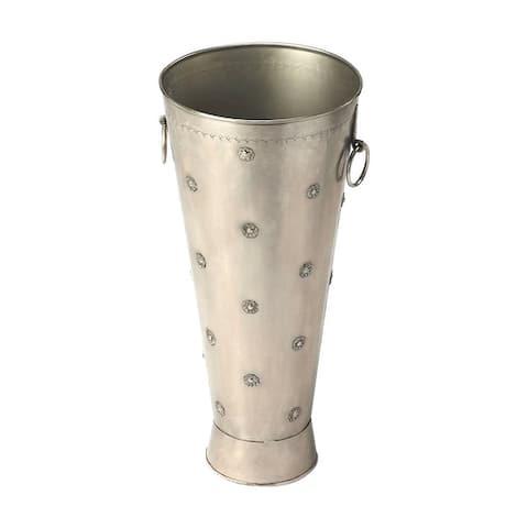 Offex Richfield Antique Silver Round Umbrella Stand - Silver