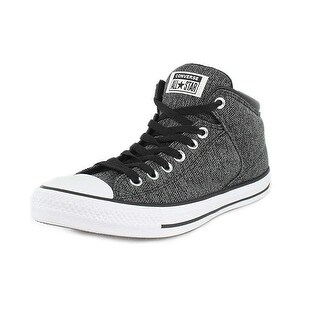 Converse Unisex Chuck Taylor All Star High Street Hi-Top Black/Mason/White Sneaker, 10 Men, 12 Women